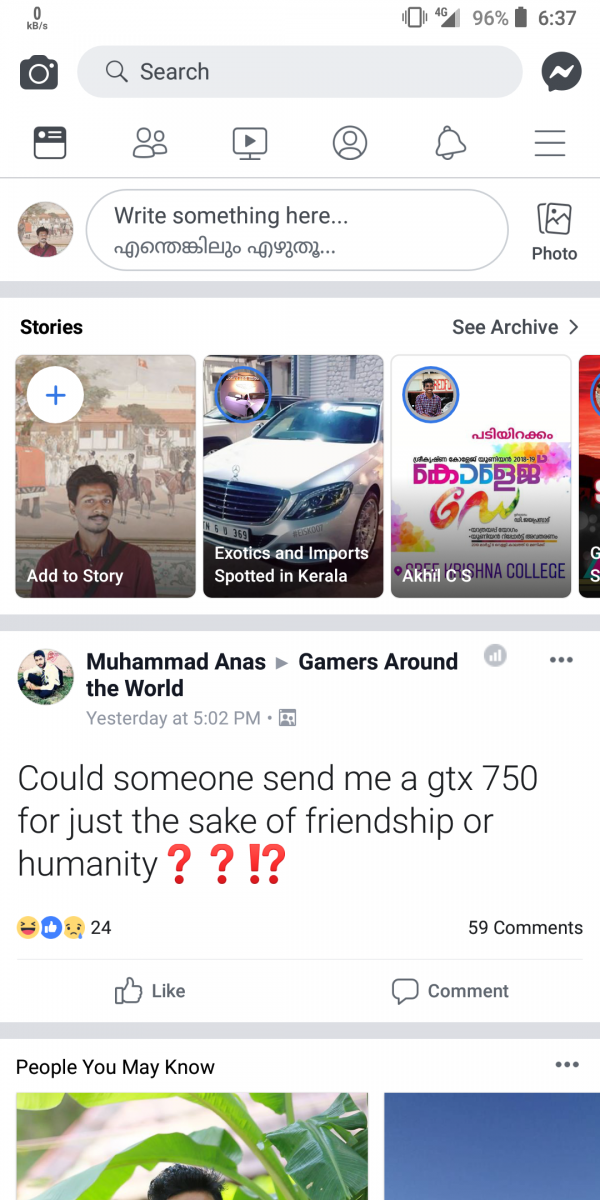Facebook is testing a whiter UI design in the Android app