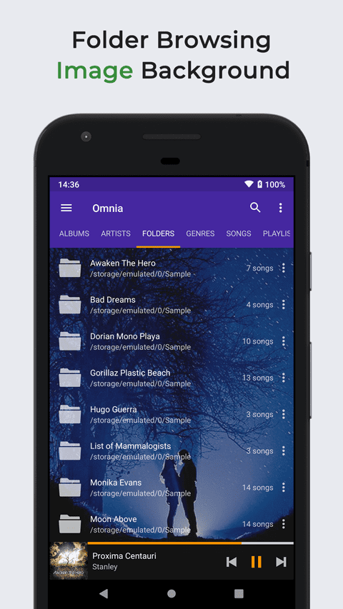 Omnia Music Player is a new Material Design audio player