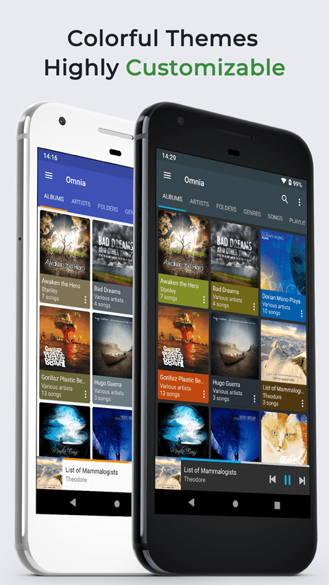 Omnia Music Player is a new Material Design audio player with Google