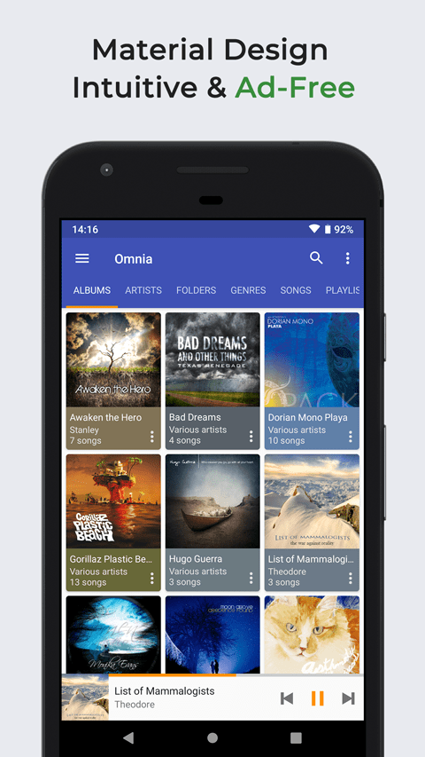 Xda-Developers | Omnia Music Player is a new Material Design