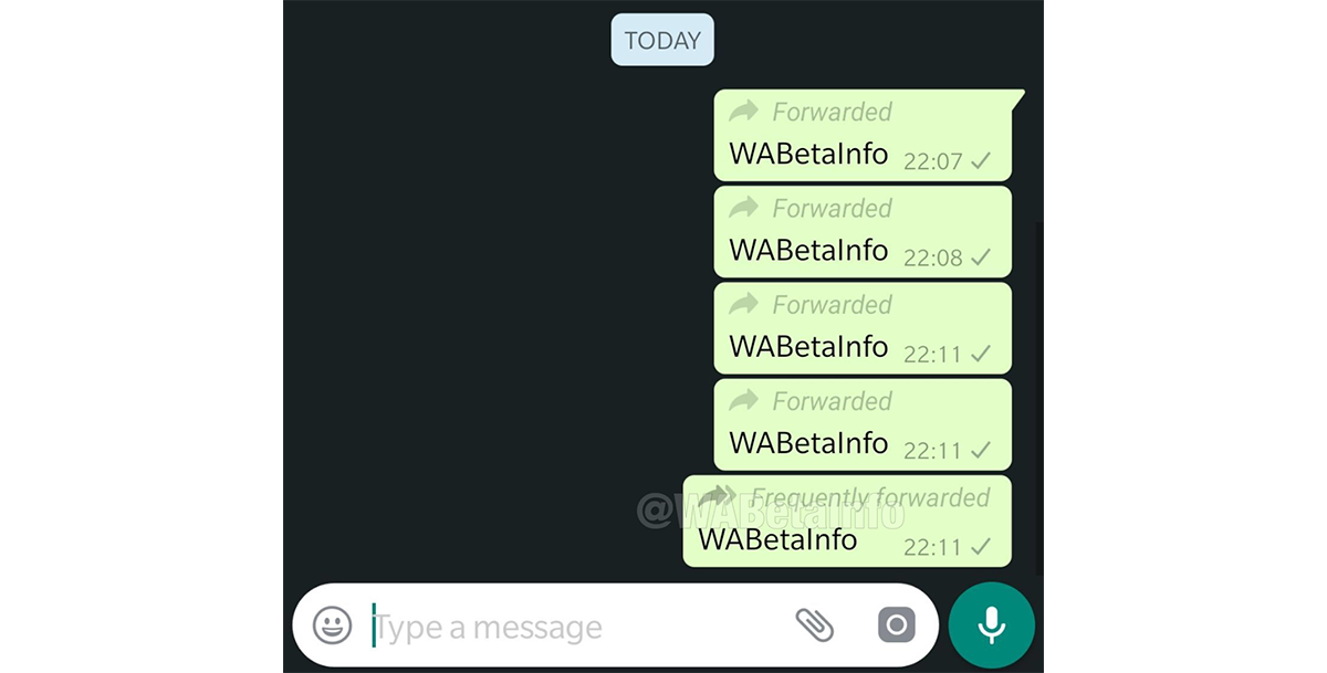 whatsapp beta forwarded