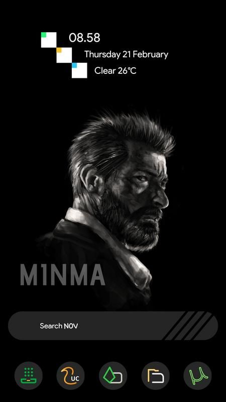 Minma is a free icon pack with round icons and dark backgrounds