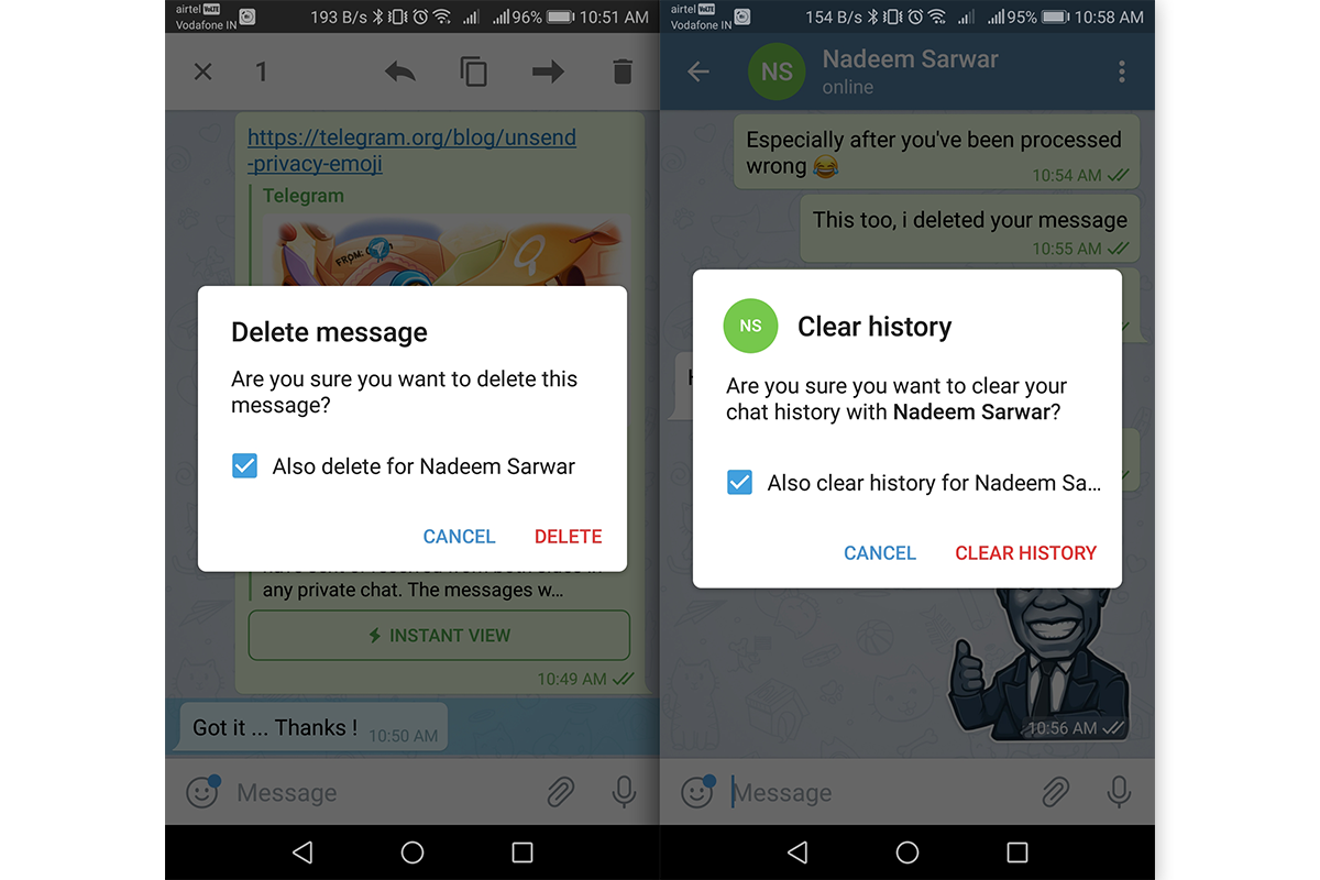 Telegram 5 5 lifts time limit on unsend feature, adds