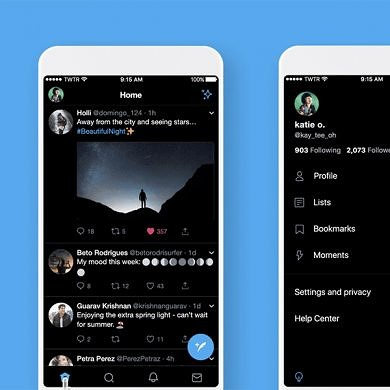 Twitter for mobile is getting a true black night mode
