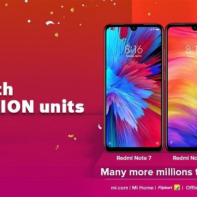 Xiaomi Redmi Note 7 series sold more than 1 Million units in a month in India