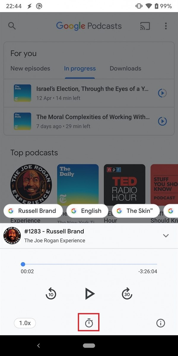 Google tests a new Google Lens UI and sleep timer for Google Podcasts