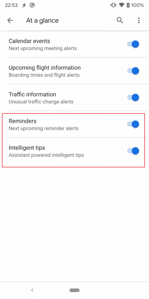 Android Q Calendario.Google S At A Glance Widget Prepares To Add Reminder Alerts
