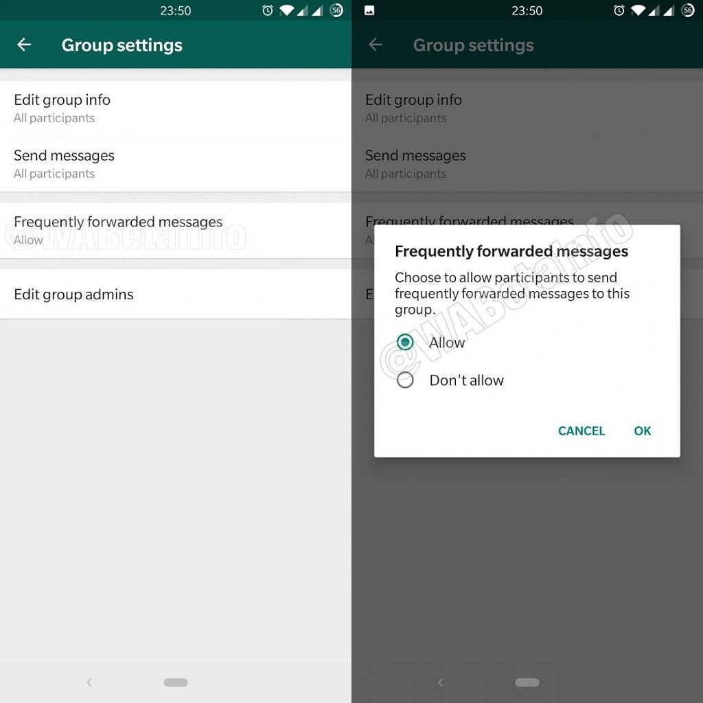 Android users can now block WhatsApp messages forwarded more than 5 times
