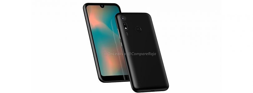 Renders of a possible Motorola Moto P40 Play show a waterdrop notch and dual cameras