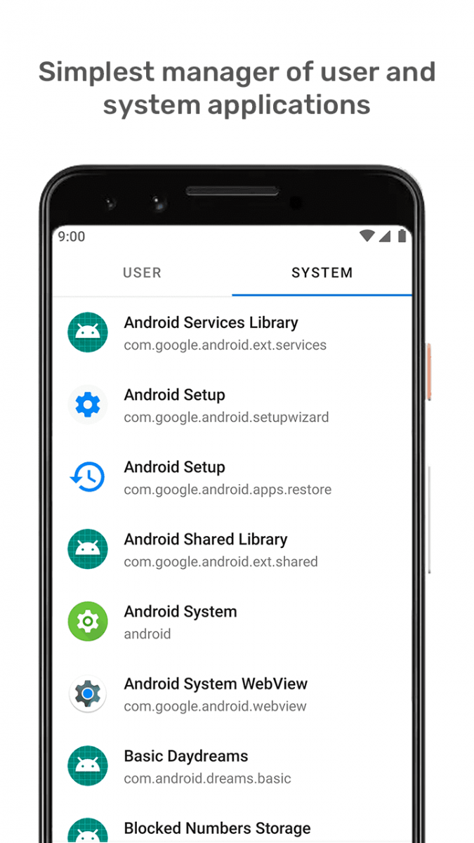 what is android system in application manager
