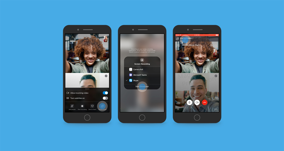 Skype now allows sharing your Android smartphone's screen on video call