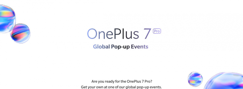 OnePlus 7 Pro Pop-up Events Will Be Held In 6 Cities