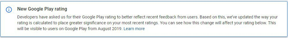 Google Play Store app rating scores will focus on recent reviews