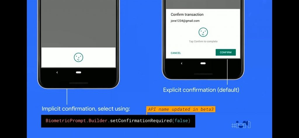 BiometricPrompt API changes in Android Q