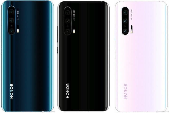 Honor 20 leaked renders