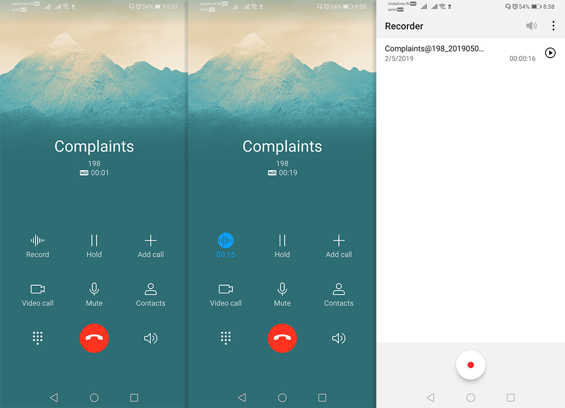 huawei honor emui call recorder