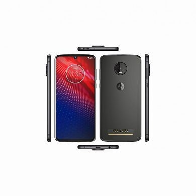 Motorola Moto Z4 renders show a headphone jack, large camera bump, and small notch