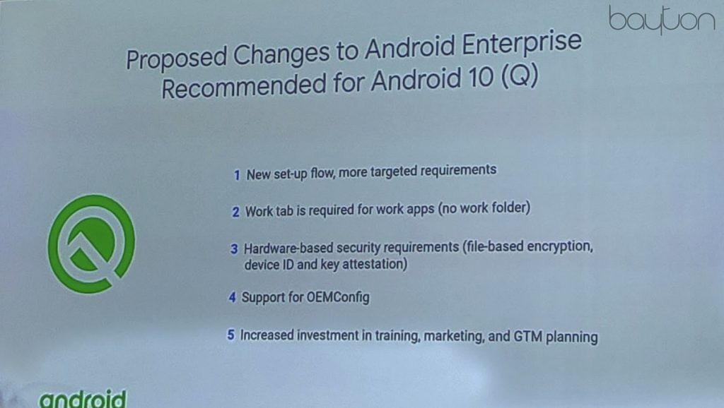 Android Enterprise Recommended for Android Q