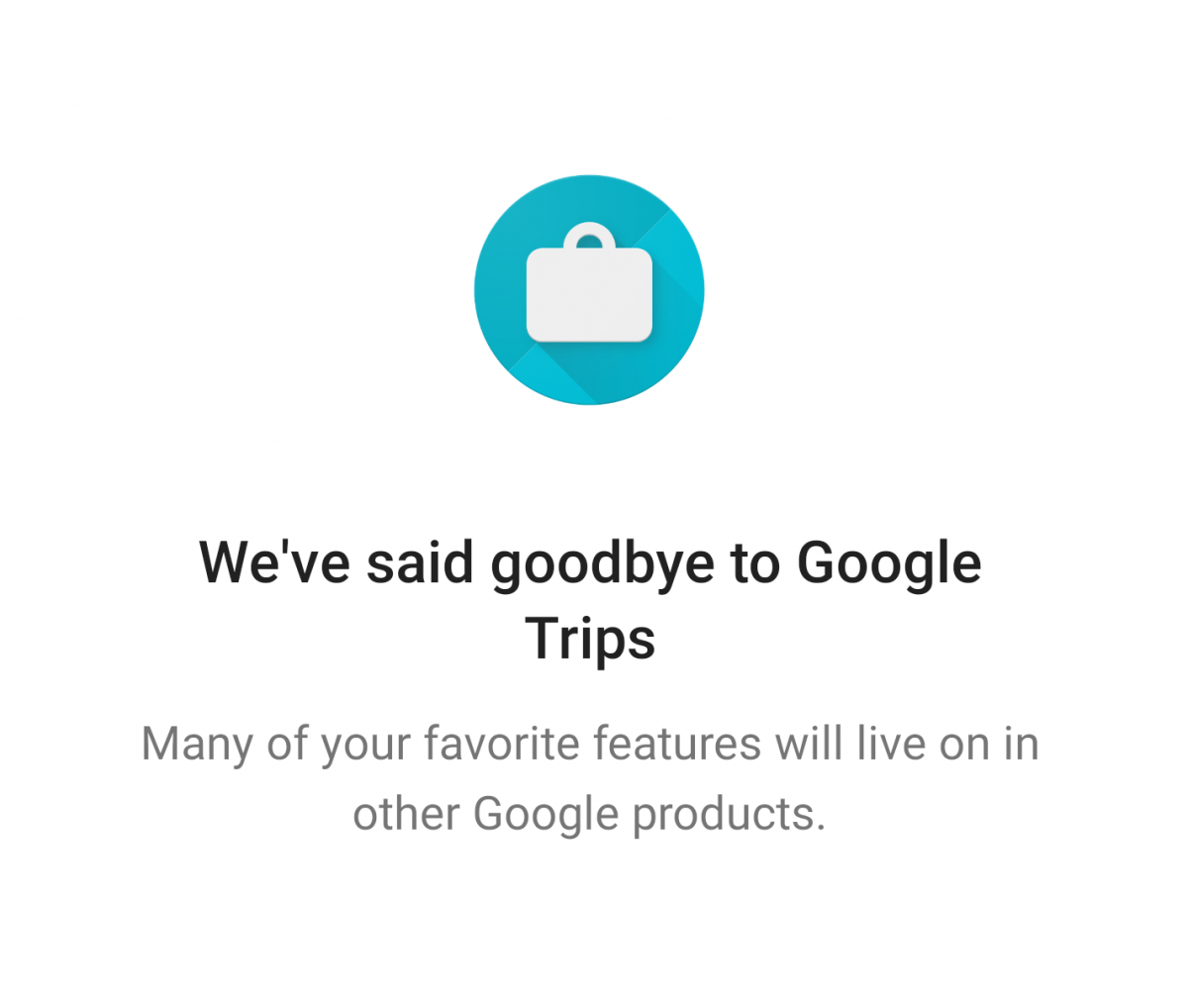 Image result for google trips discontinued