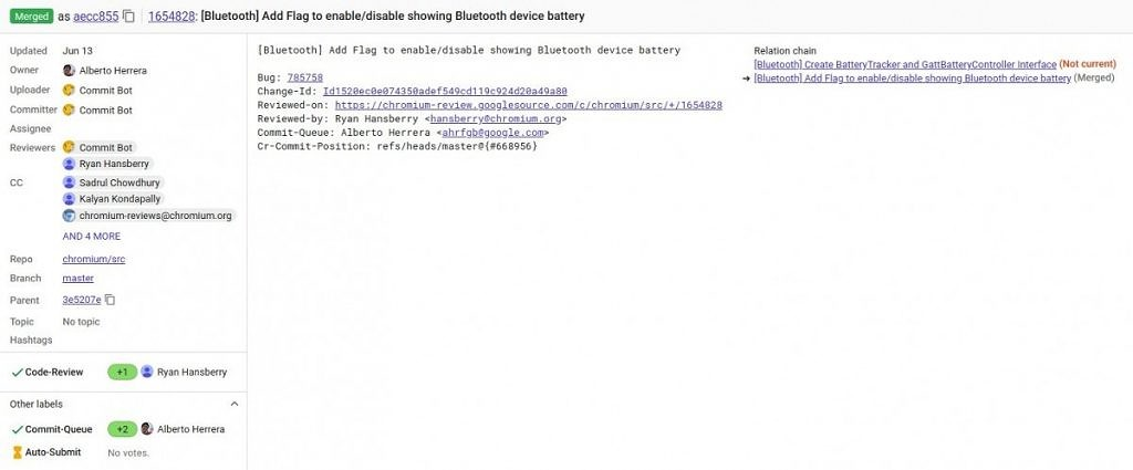 Chromebooks will soon have Bluetooth battery indicators