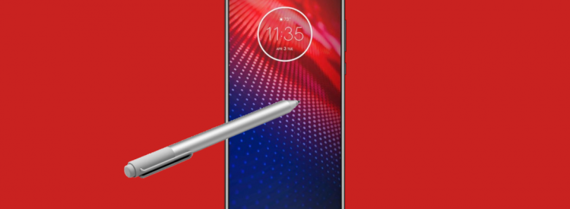 The Moto Z4 apparently supports styluses like the Microsoft Surface Pen