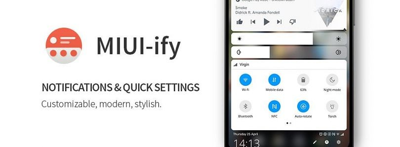 MIUI-ify brings a MIUI 10-style quick settings and notification panel to the bottom of your screen