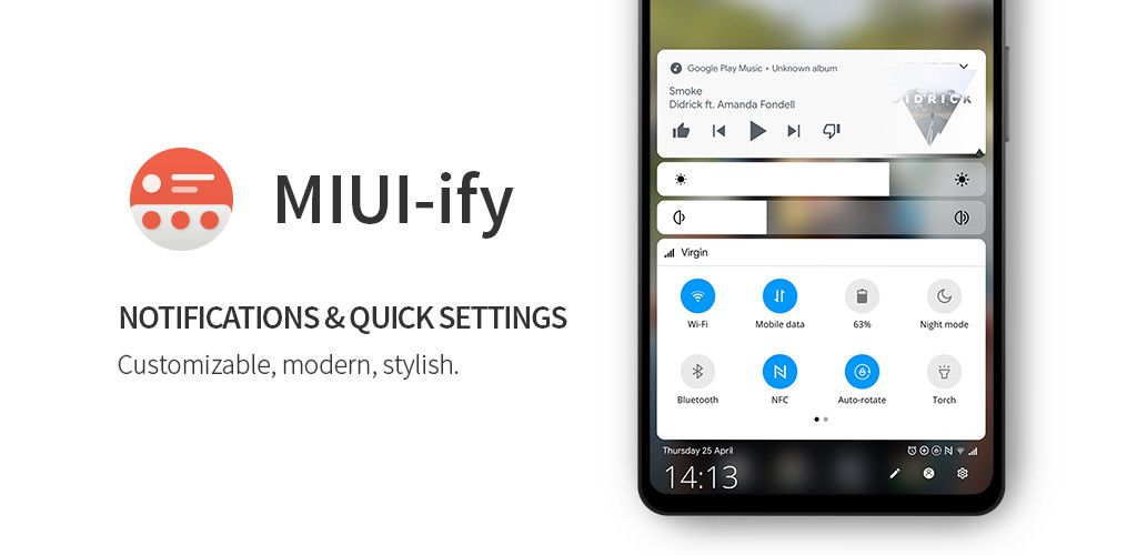 MIUI-ify brings a MIUI 10-style quick settings and