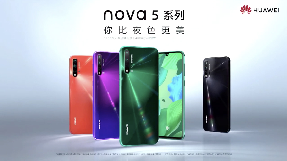 Huawei Nova 5 Pro, Nova 5, Nova 5i, and MediaPad M6 launched