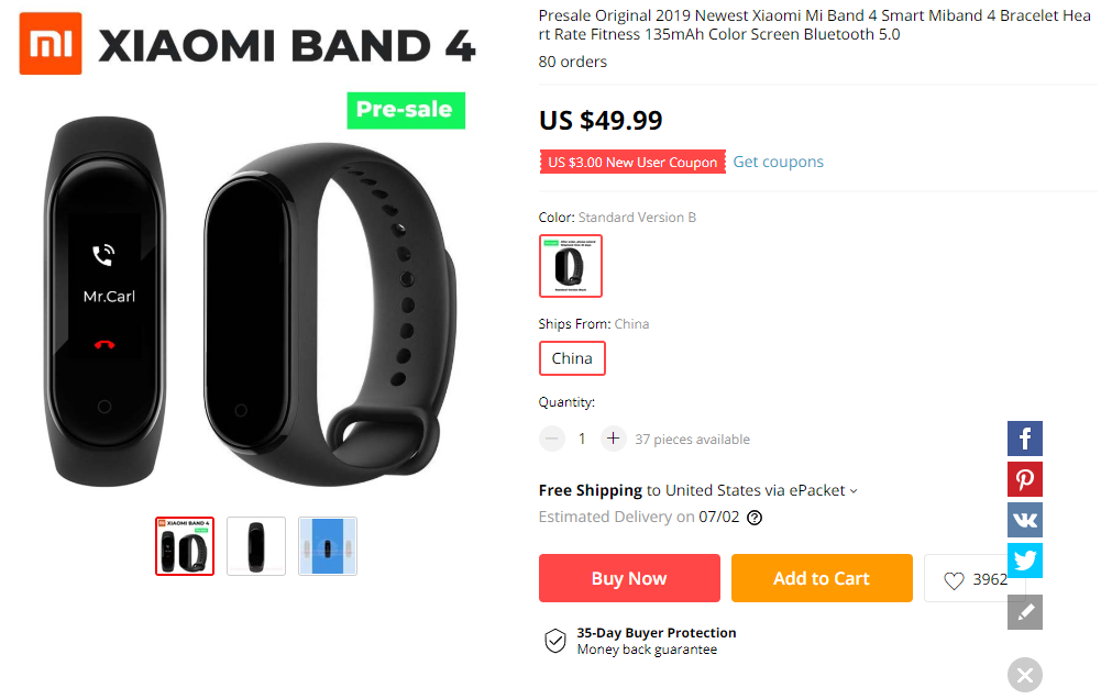 Update: Up for pre-order] The Xiaomi Mi Band 4 is coming this year