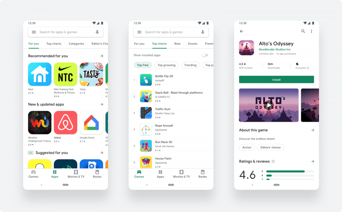 Google Play Store Material Theme redesign is now rolling out