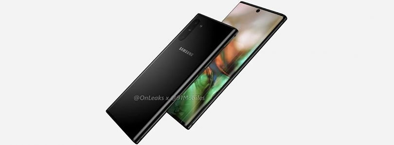 Samsung Galaxy Note 10 renders reveal centered hole punch and no headphone jack or Bixby button