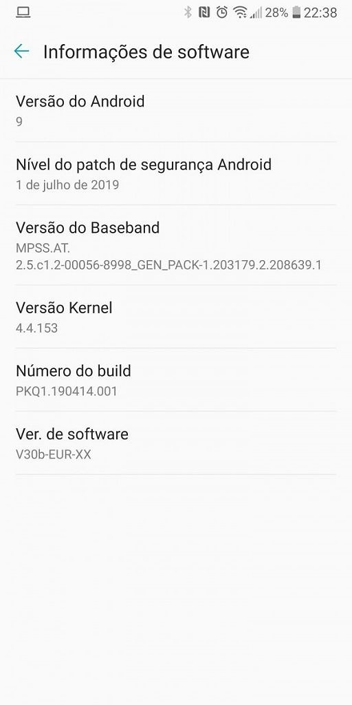 LG V30 Android 9 Pie