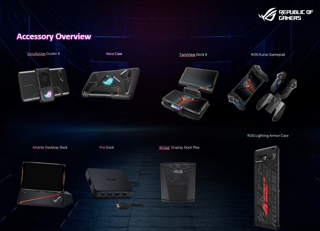 ASUS ROG Phone II accessories