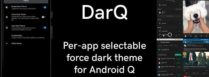 DarQ lets you toggle Android Q's force dark mode on a per-app basis [Root]