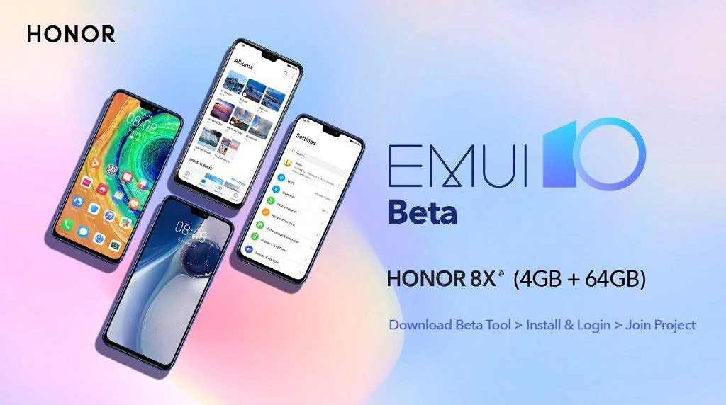 EMUI 10 Beta for the Honor 8X