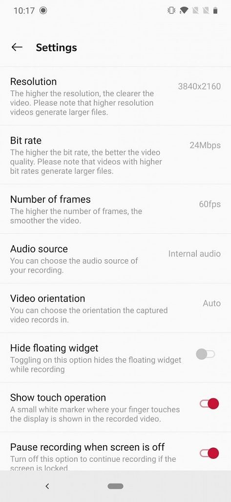 Download: OnePlus Screen Recorder from Android Q DP3 adds