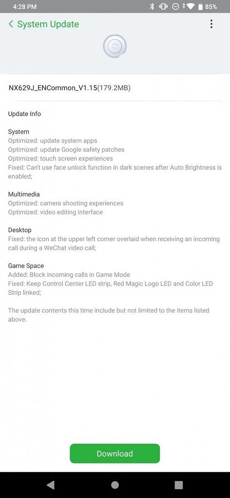 Nubia Red Magic 3 update adds the ability to block incoming