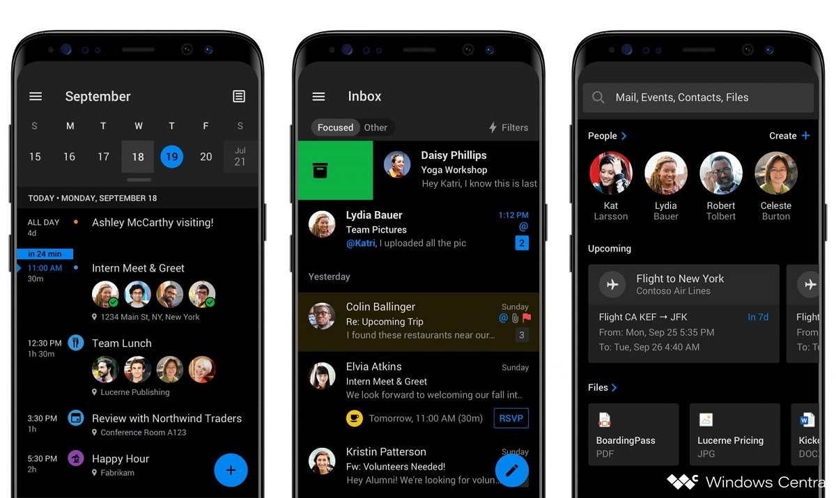 Microsoft Outlook's upcoming dark mode for Android leaked