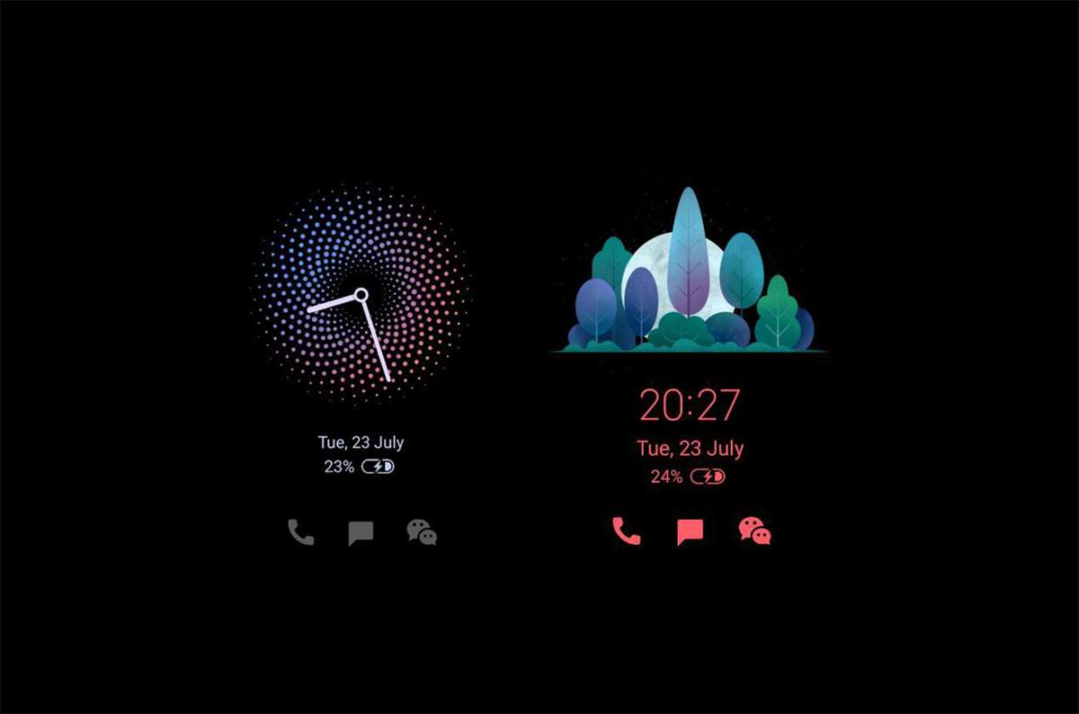 MIUI gets new clock designs for ambient displays on Xiaomi