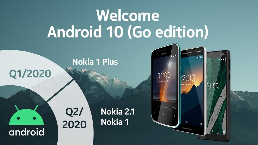 Android 10 Go Edition for HMD Global's Nokia smartphones