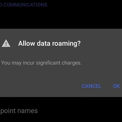 Android to add a data roaming notification warning so you won't get a surprise bill