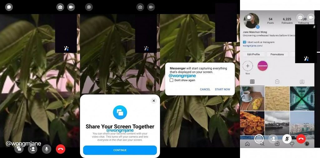 Facebook Messenger Screen Sharing