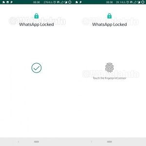 WhatsApp for Android Beta Fingerprint Unlock feature