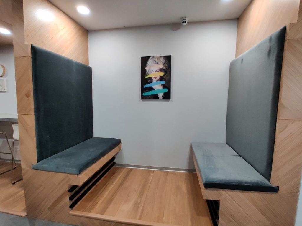 OnePlus India R&D Center in Hyderabad, showing leisure space