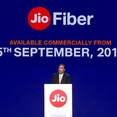 Reliance Jio Fiber to launch commercially in India from September 5 with ₹700 ($10) monthly plan