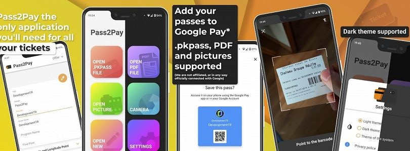 Pass2Pay helps you add any pass or ticket to Google Pay