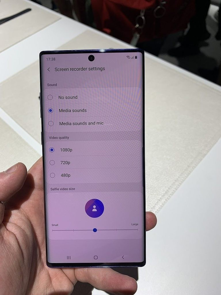 Samsung Galaxy Note 10 screen recording