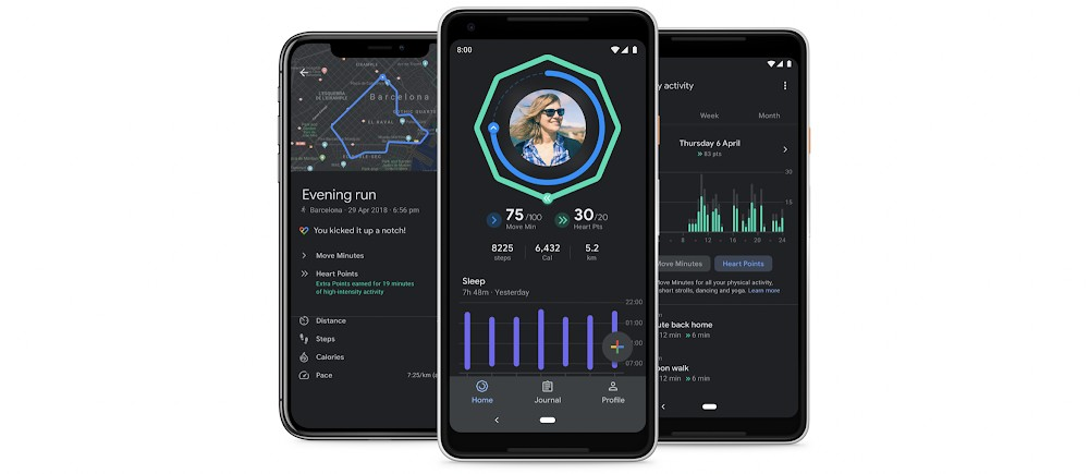 Google Fit gets a dark theme and new sleep charts