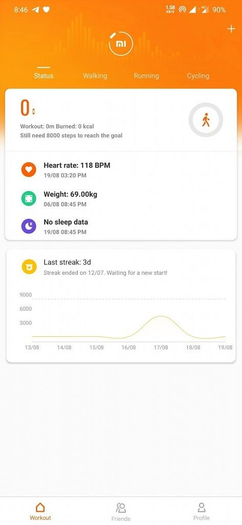 Mi Band 4 - Mi Fit - Activity Tracking