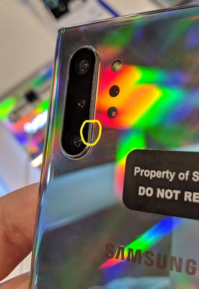 Samsung Galaxy Note 10 rear cameras